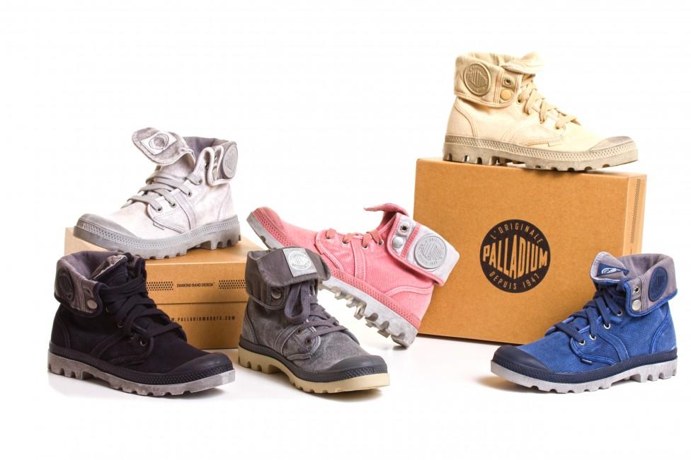 Différentes chaussures de la marque Palladium