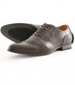 Chaussures italiennes marron en cuir