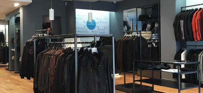 Intérieur de la boutique cuir
