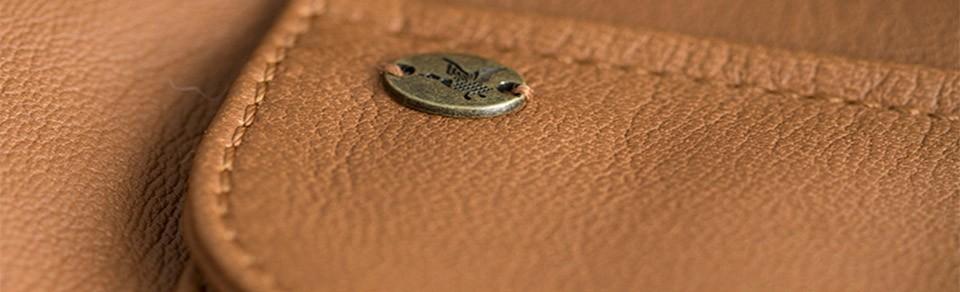 Bouton pression chevignon sur cuir