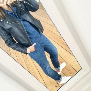 cuir et jean
