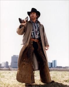 Cowboy en blouson daim